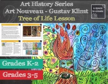 tree of life lesson gustav klimt art history lesson art nouveau