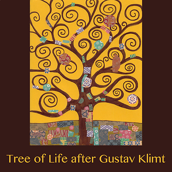 Tree of Life after Klimt by Wolfsen Art Lessons | TpT