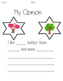 Tree or Flower Opinion Writing Prompt