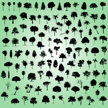 Tree silhouette digital clipart
