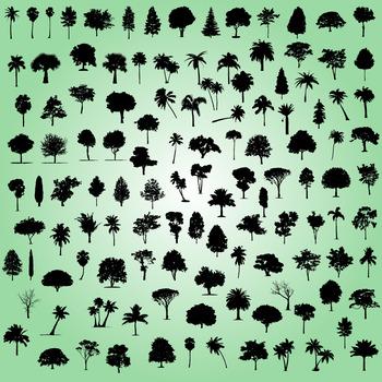 Tree silhouette digital clipart