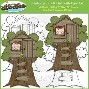 Treehouse Boy & Girl