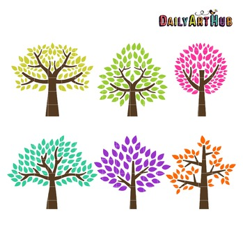 Trees Clip Art - Great for Art Class Projects!