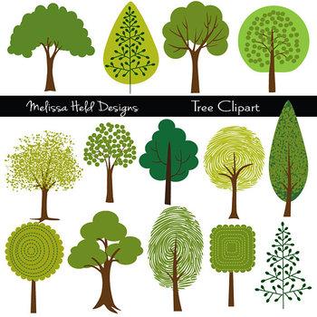 Clipart:  Tree Illustrations Clip Art