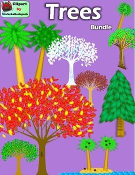 Clip Art - Trees Clipart Bundle