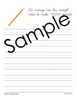 Trees Unit – Copywork - Print and Cursive - Handwriting