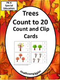 Trees Count Clip Task Cards Kindergarten Special Education Math Fine Motor Skill