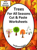 Trees Fall Cut Paste Activities Math Literacy P-K K Special Education Fine Motor