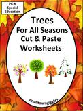 Trees Fall Cut Paste Activities Math Literacy P-K K Specia