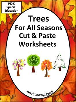 Trees All Seasons Kindergarten Math & Literacy Morning Wor
