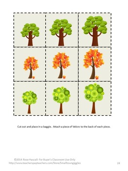 Trees  Math and Literacy Interactive File Folder Games Arbor Day
