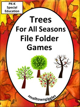 Trees  Math and Literacy File Folder Games for Interactive