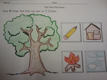 Trees Give Activity Common Core