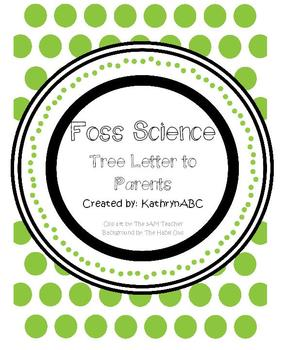 Trees Letter (FOSS Science, Trees)