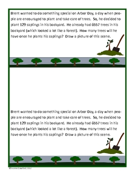 Arbor Day Math Journal Prompts (3rd and 4th grades)