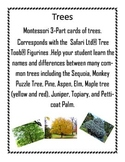 Trees, Montessori 3-Part Cards