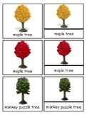 Trees Montessori 3-part cards--Safari Trees Toob