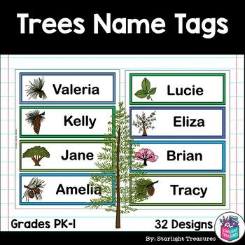 Trees Name Tags - Editable