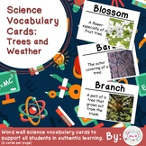 Trees and Weather Science Vocabulary Cards Large