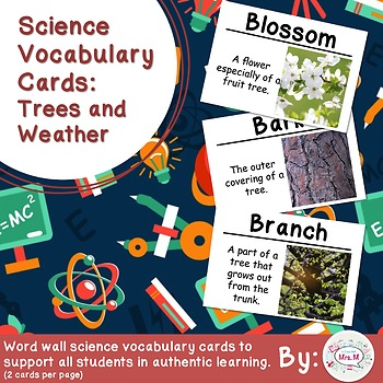 Trees Science Vocabulary Cards (FOSS Trees Module) Large