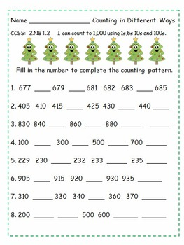 Second Grade December Tree Unit  Common Core Activities