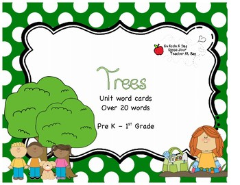 Trees Unit Word Cards