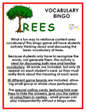 Trees Vocabulary Bingo
