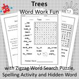 Trees Word Work Fun