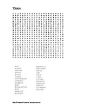 Trees Wordsearch Puzzle