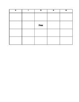 Trees and Forests Bingo Game Template