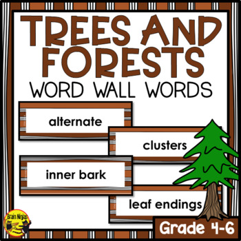 Trees and Forests Word Wall Words- Editable
