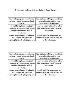 Trees and How we use them- debate cards