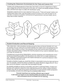 Trees and Leaves: Fun Activities for All Subjects