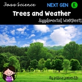 Trees and Weather: Kindergarten Foss Supplemental Worksheets