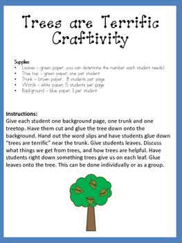 Trees are Terrific Arbor Day Craftivity
