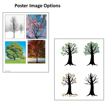 Trees in 4 Seasons -- Make a Poster with Labels