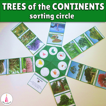Trees of the continents circle cards