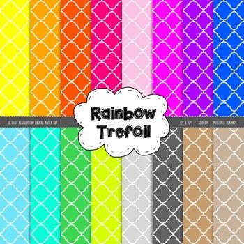 Trefoil Digital Paper Set - Rainbow Brights
