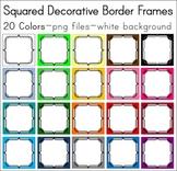 Trellis Squares Border Frames in 20 colors