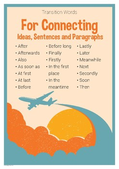 Tremendous Transition Word Help Poster 4