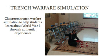 Trench Warfare Simulation