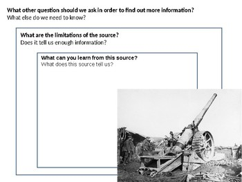 Trench Warfare Source Analysis Activity