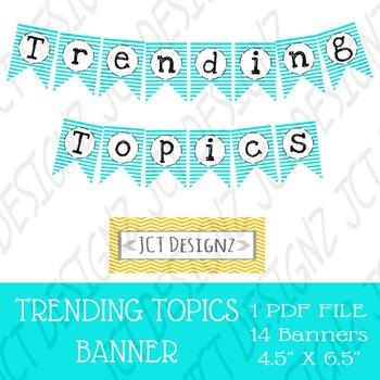 Trending Topics Banner, 21st Century, Twitter Inspired, Twitter, Social Media