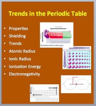 Trends In The Periodic Table A Senior Level Chemistry Powerpoint Lesson