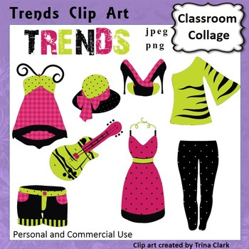 Trends Teen Clip Art - Color - personal & commercial use