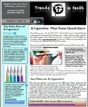 Trends in Health Newsletter Vol. 2: A FREE Report on the Dangers of E-Cigarettes