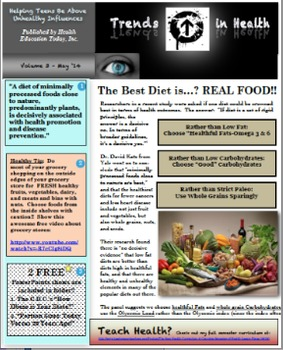 What Diets are Best? Trends in Health Newsletter Vol. 3 - A FREE  Report