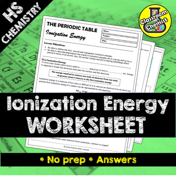 Trends in the Periodic Table - Ionization Energy