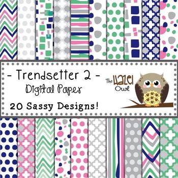 Digital Papers: Trendsetter Print 2