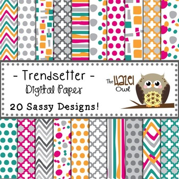 Digital Papers: Trendsetter Print